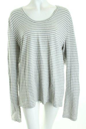 Hugo Boss Longshirt grau-weiß Streifenmuster Street-Fashion-Look