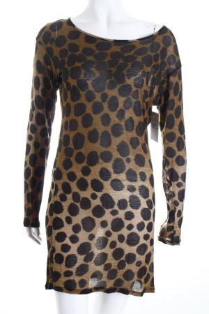 Hugo Boss Longshirt schwarz-olivgrün Farbtupfermuster Street-Fashion-Look