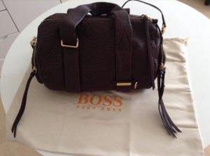 Hugo Boss Borsa a spalla marrone-rosso Pelle