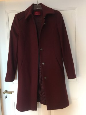 Hugo Boss Wollen jas bordeaux