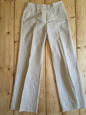 Hugo Boss Marlene Trousers white-pale yellow cotton
