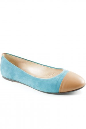 Hugo Boss Mary Jane Ballerinas kadettblau-beige Business-Look