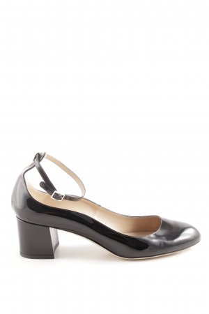 Hugo Boss Mary Jane Pumps schwarz Glanz-Optik
