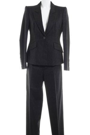 Hugo Boss Traje a rayas negro-color plata raya diplomática estilo «business»