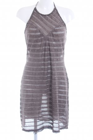 Hugo Boss Halter Dress grey brown loosely knitted pattern extravagant style