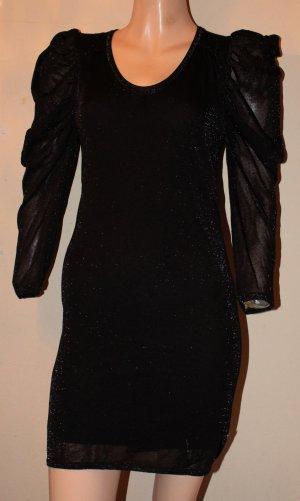 HUGO BOSS Orange Label Sexy Mini KLEID schwarz Stretch Abendkleid Gr. 36