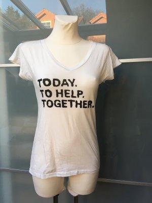 Hugo Boss T-shirt col en V blanc