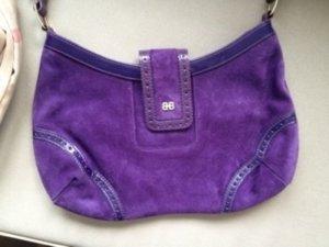 HUGO BOSS original Designer Handtasche wildleder Echtleder violett