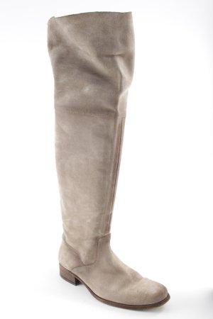 Hugo Boss Kniehoge laarzen grijs-bruin casual uitstraling