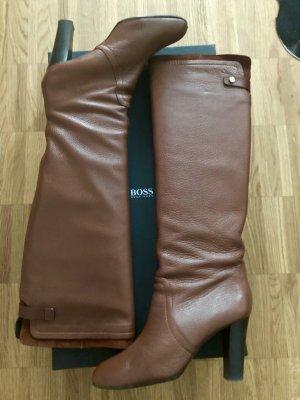 Hugo Boss Overknees Stiefel in Braun Gr 40