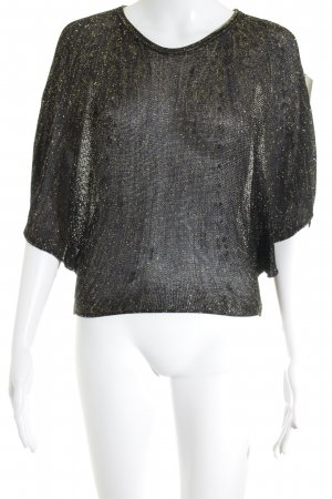 Hugo Boss Oversized Shirt schwarz-goldfarben Elegant