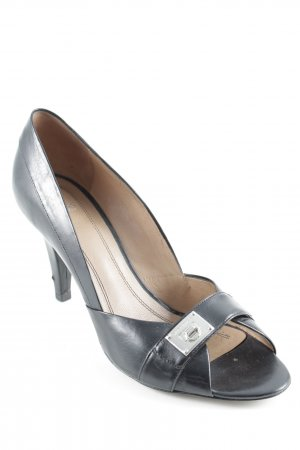 Hugo Boss Peeptoe Pumps schwarz Business-Look