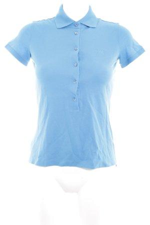 Hugo Boss Polo-Shirt hellblau Casual-Look