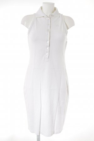Hugo Boss Vestido tipo polo blanco look casual
