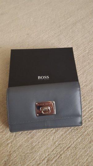 Hugo Boss Portemonnaie aus Leder in grau unbenutzt