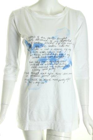 Hugo Boss Print-Shirt weiß Schriftzug gedruckt Logoprint