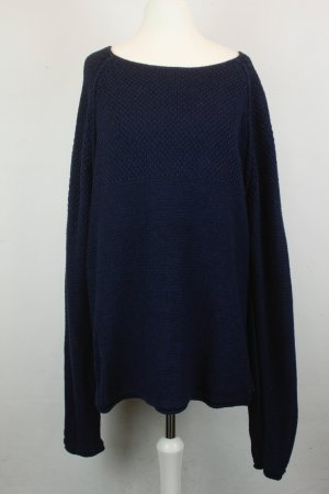 Hugo Boss Pullover Strickpullover Gr. XL blau oversized