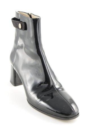 Hugo Boss Reißverschluss-Stiefeletten schwarz Elegant