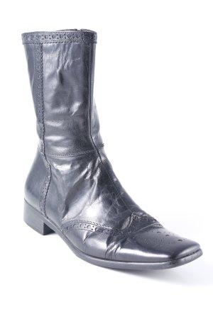 Hugo Boss Reißverschluss-Stiefeletten schwarz schlichter Stil