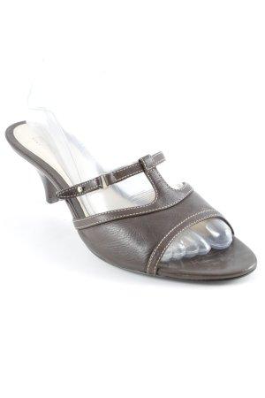 Hugo Boss Riemchen-Sandalen schwarzbraun klassischer Stil