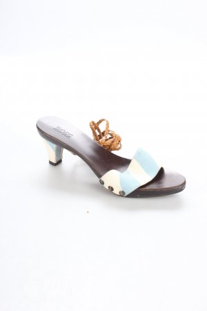 Hugo Boss Strapped High-Heeled Sandals white-light blue striped pattern