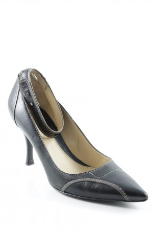 Hugo Boss Riemchenpumps dunkelbraun Business-Look
