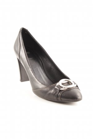 Hugo Boss Riemchenpumps schwarz Business-Look