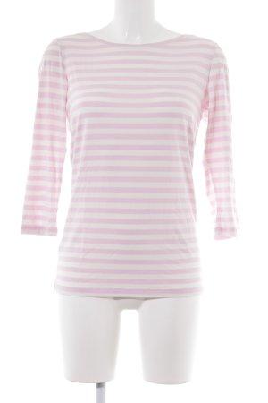 Hugo Boss Gestreept shirt lichtroze-wit gestreept patroon casual uitstraling