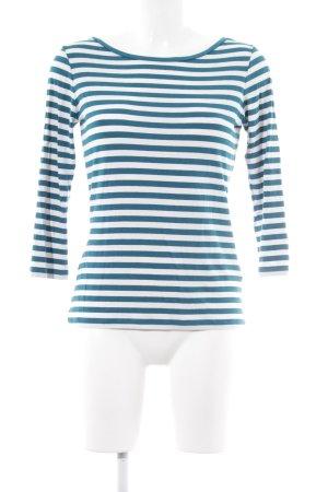 Hugo Boss Gestreept shirt petrol-wit gestreept patroon casual uitstraling