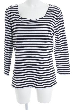 Hugo Boss T-shirt rayé blanc-noir motif rayé style classique