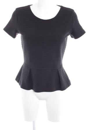 Hugo Boss Rippshirt schwarz Streifenmuster schlichter Stil