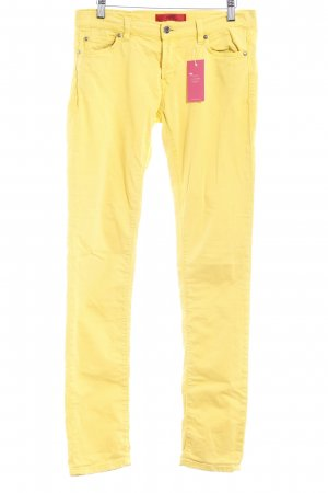 Hugo Boss Drainpipe Trousers dark yellow casual look