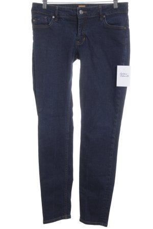 Hugo Boss Tube jeans donkerblauw casual uitstraling