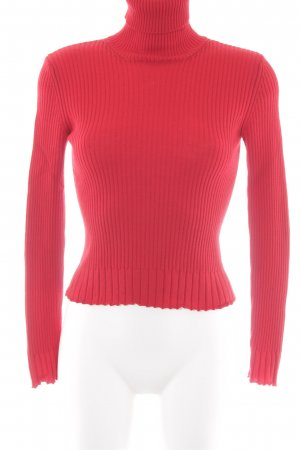 Hugo Boss Turtleneck Sweater red casual look