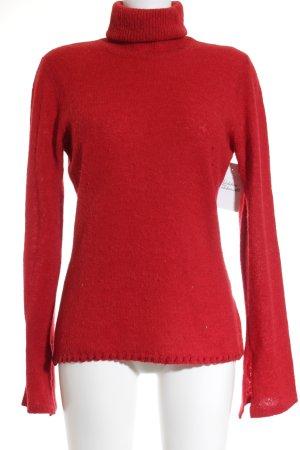 Hugo Boss Rollkragenpullover rot schlichter Stil
