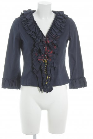 Hugo Boss Ruche blouse abstract patroon extravagante stijl