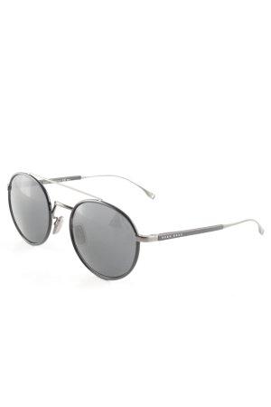 Hugo Boss Occhiale da sole rotondo nero stile casual