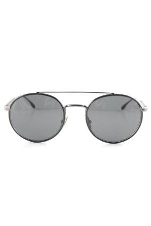 Hugo Boss runde Sonnenbrille schwarz Casual-Look