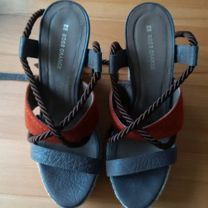 Boss Hugo Boss Wedge Sandals multicolored leather