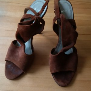 Hugo Boss High Heel Sandal brown suede
