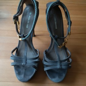Hugo Boss High Heel Sandal grey suede