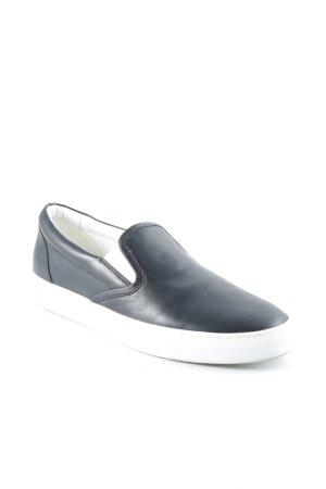 Hugo Boss Slip-on Shoes black-white simple style