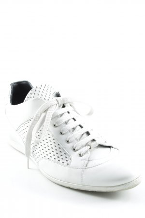 Hugo Boss Lace Shoes white casual look