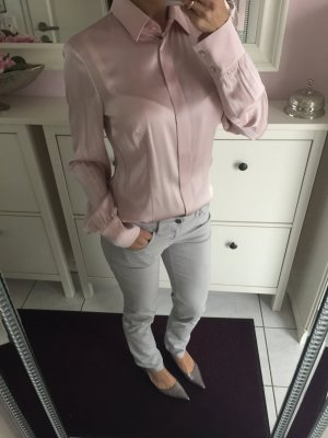 Hugo Boss Seidenbluse Bluse rosa Rosé altrosa s 36 neu