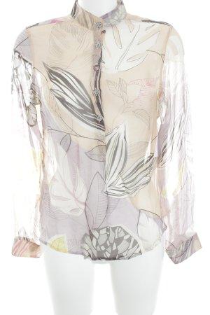 Hugo Boss Zijden blouse nude-paars abstract patroon casual uitstraling