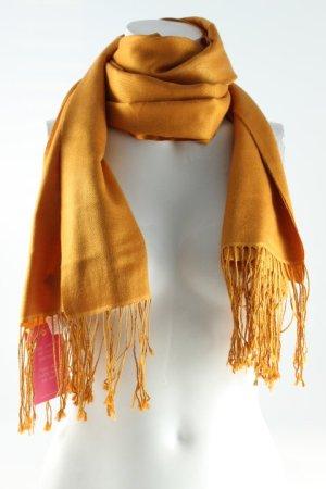 Hugo Boss Zijden sjaal goud Oranje casual uitstraling