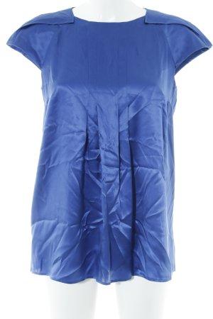 Hugo Boss Haut en soie bleu élégant