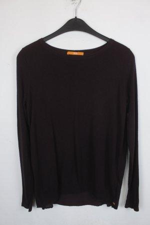 Hugo Boss Shirt Longsleeve Gr. XS dunkelrot mit Rückenausschnitt, Seide (18/5/021)