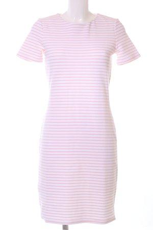 Hugo Boss Shirtkleid weiß-hellorange Streifenmuster Casual-Look