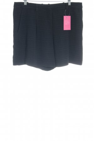 Hugo Boss Shorts schwarz-blau Hahnentrittmuster Casual-Look